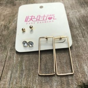 ❤️ Fast Fashion earring set (NWT)